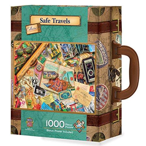 MasterPieces Safe Travels 1000 Piece Suitcase Jigsaw Puzzle
