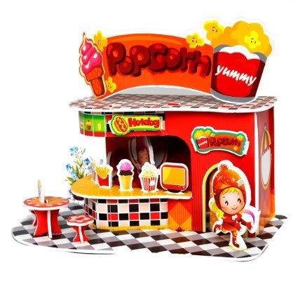 Sidiou Group Merry Puzzle 3D Puzzle Popcorn Shop Theme Form Board
