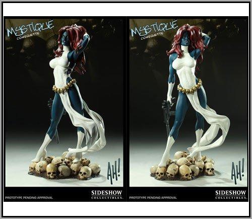 Sideshow Marvel Mystique Comiquette Statue Maquette