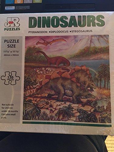 JR Dinosaurs Puzzle 120 pc 11-12x 11-12 Pteranodon Diplodocus Stegosarus