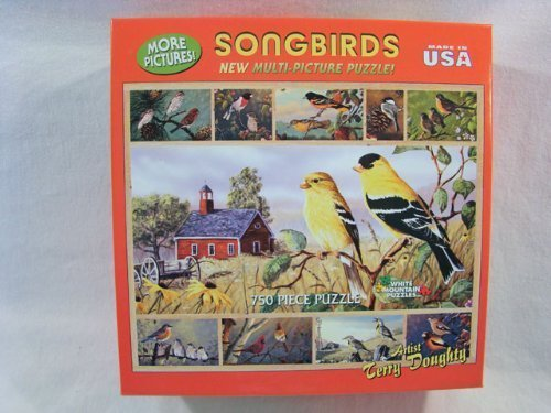 White Mountain Terry Doughty 750 Piece Jigsaw Puzzle Songbirds by White Mountain
