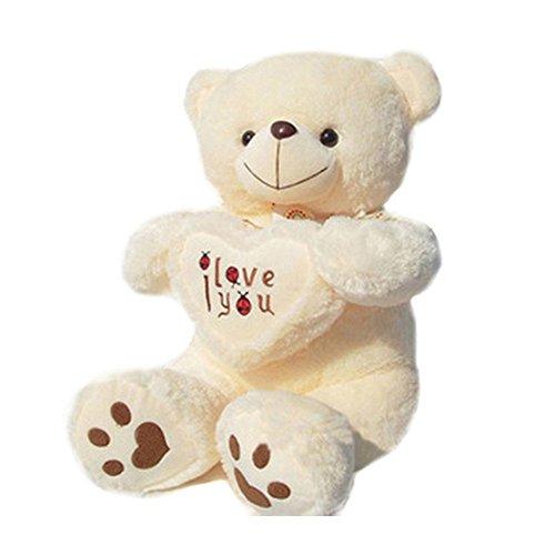 Valentine day Gifts New Year Stuffed Animals Gian Big Teddy Bears Big Plush Toys-70cm Giant Teddy Bear Large Soft Toy Stuffed Bear White Bear I Love You Valentine Day Birthday Gift By Gangnumsky