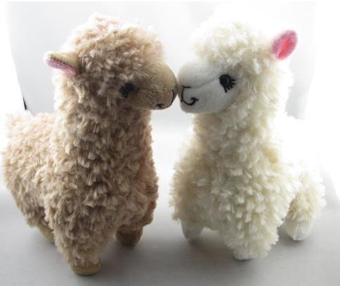HOOH 2pcs Cute Alpaca Plush Toy Camel Cream Llama Stuffed Animal Kids Doll 23cm Height by HOOH
