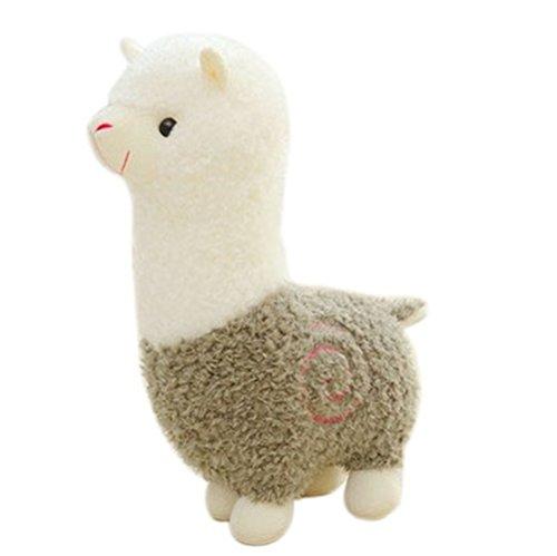 Remeehi Kawaii Cute Alpaca Plush Toy Llama Stuffed Animal Kids Soft Plush Alpacasso Baby 100 Plush Stuffed Animals Sheep Gifts Green 25cm