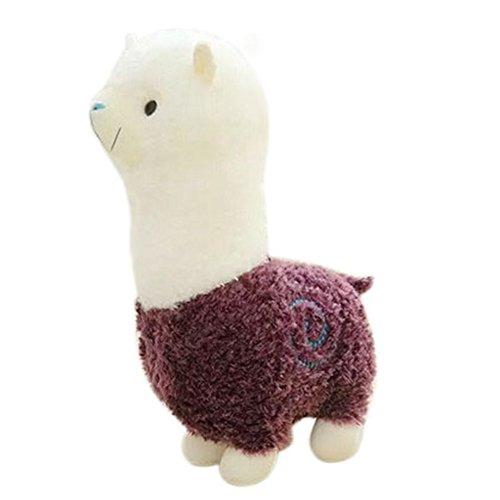 Remeehi Kawaii Cute Alpaca Plush Toy Llama Stuffed Animal Kids Soft Plush Alpacasso Baby 100 Plush Stuffed Animals Sheep Gifts Purple 35cm