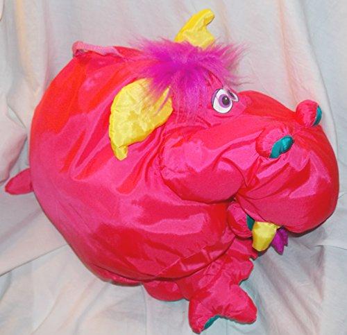 1995 Fisher Price Monster Big Things 23 Pink Dragon Stuffed Animal