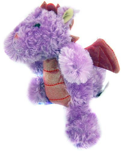 Baby Birth Childrens Birthday Gift 6 Purple Fur with Red Glitter Wings Plush Dragon Stuffed Animal Toy by Galerie