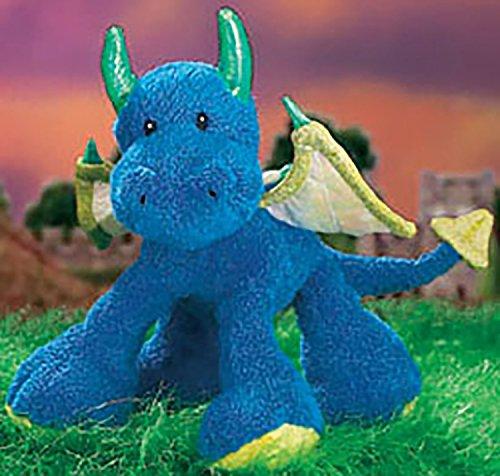 Gund Plush Klumbsy Samson Blue Winged Dragon Stuffed Animal