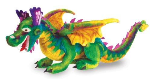 Melissa Doug Giant Dragon Stuffed Animal over 3 feet long