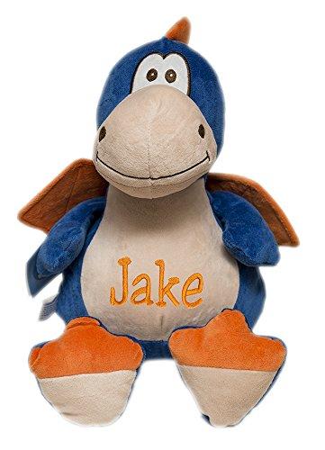 Personalized Monogrammed Baby Cubbies Winged DRAGON Stuffed Animal Plush Keepsake Gift