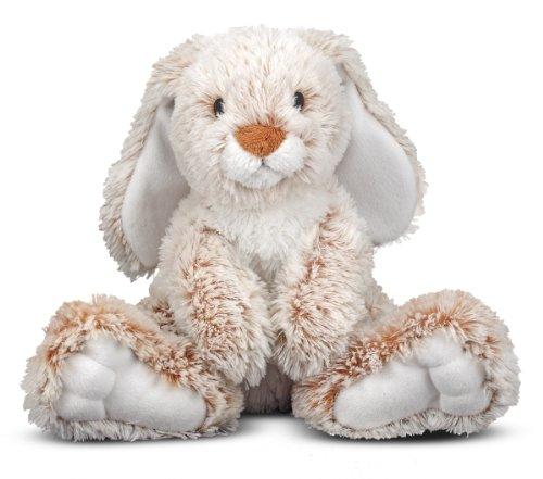 Melissa Doug 7674 Plush Burrow Bunny Rabbit Stuffed Animal 9 Inch