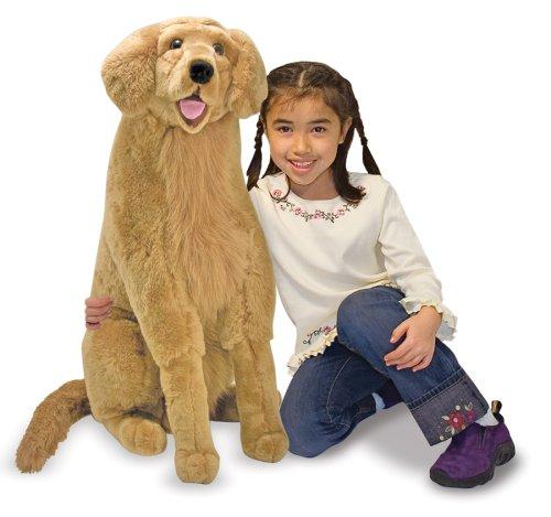 Melissa Doug Giant Golden Retriever - Lifelike Stuffed Animal Dog over 2 feet tall