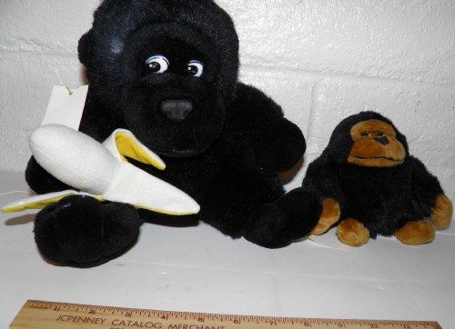 2 Gorillas Stuffed Animals Black 2 Pack