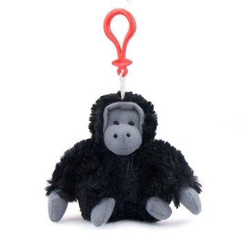 Gorilla Plush Black Gorilla Stuffed Animal Backpack Clip Toy Keychain WildLife Hanger