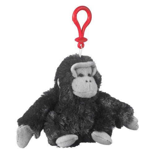 Gorilla Plush Black Gorilla Stuffed Animal Backpack Clip Toy Keychain WildLife Hanger by Wildlife Artists