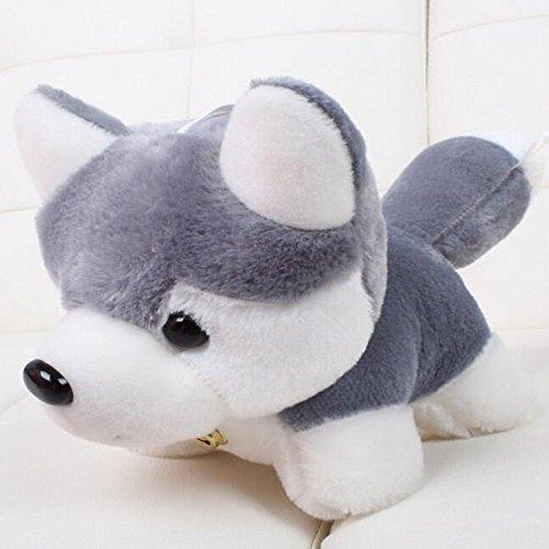 Dongcrytal 138 Gray Huskies Stuffed Animal Toy Puppy Soft Plush Doll Dog Pet