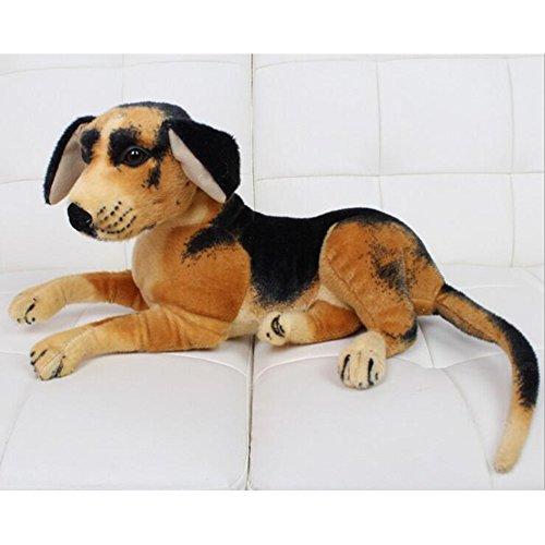 Dongcrytal 157 Black-Brown Stuffed Animal Toy Puppy Soft Plush Doll Dog Pet Dog Simulation