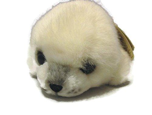 Russ White Seal Caress Soft Pet Stuffed Animal 8
