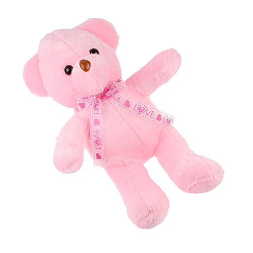 VANKER Colorful Adorable LED Light up Glow Bear Pet Stuffed Animal Toy Gifts for ChildrenStuffed Plush Toy with Colorful Flash LED LightPink