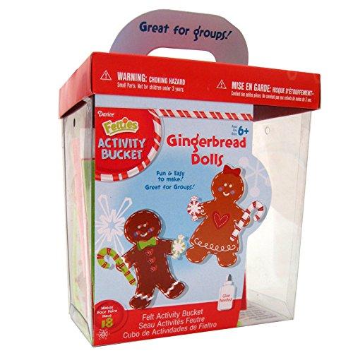 Christmas Arts and Crafts FoamiesActivity Bucket - Felt Gingerbread Dolls - Makes 18
