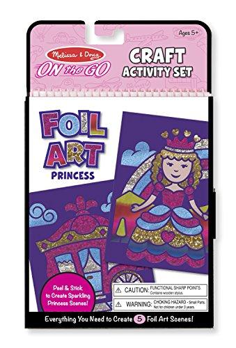 Melissa Doug On the Go Foil Art Craft Activity Kit - Princess