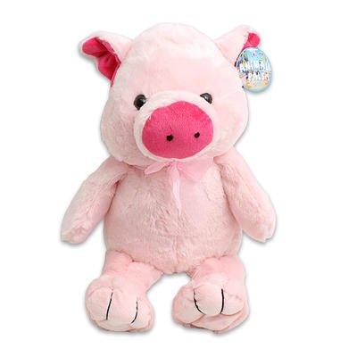 Large Plush Cuddle Pink Pig Stuffed Toy 20 Tall