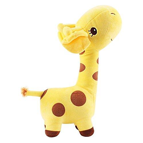 Easywin Infant Boys Girls Toys Lovely Giraffe Deer Soft Plush Toy Children Stuffed Animal Dolls Baby Kid Birthday Party Christmas Gift Height 27cm Yellow