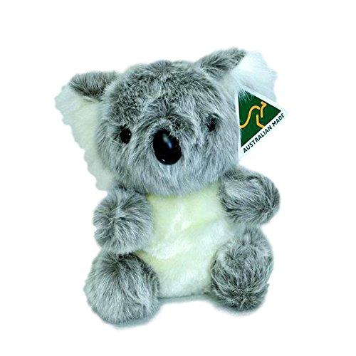 Australian Made Koala Sitting Stuffed Animal Plush Toy Medium Grey