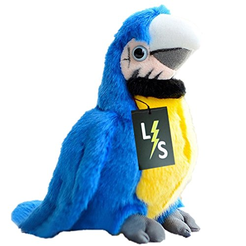 LightningStore Adorable Cute Small Yellow and Blue Parrot Stuffed Animal Doll Realistic Looking Plush Toys Plushie Childrens Gifts Animals