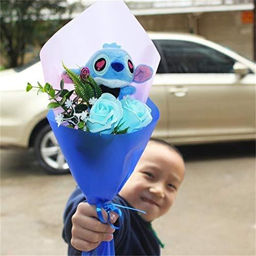 PLUSHWORLD New Stitch Plush Toys and Stitch Soft Stuffed Animal Dolls Kawaii Stich Plush Bouquets for Kids Birthday Gifts No Box