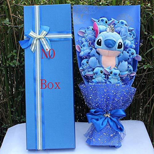 PLUSHWORLD Stitch Cartoon Flower Bouquet Plush Toy Kawaii Stitch Graduation Bouquets Plush Toy Valentine Birtdhay Gift No Box