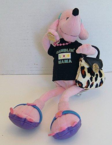 Gambler Gamblin Mama Pink Poodle Stuffed Animal Plush 10 Inches Tall