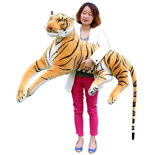 JesonnGiant Realistic Soft Stuffed Bengal Tiger Plush Toy Animals Big Super SizedBeige51 or 130CM1PC