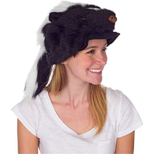 Rittle Skunk Animal Hat Realistic Plush Costume Headwear