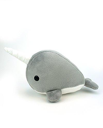 BellziCute Gray Narwhal Stuffed Animal Plush Toy - Narrzi