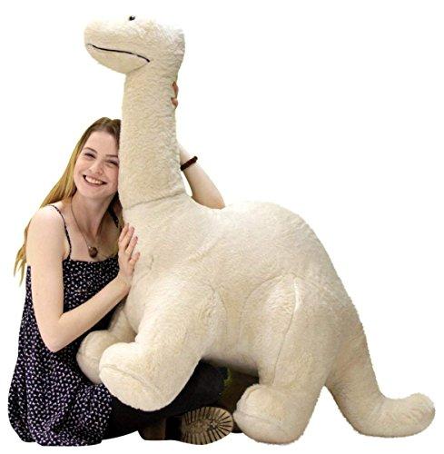 American Made Big Plush Papa Dinosaur Soft Giant Stuffed Brontosaurus 4 Feet Long 3 Feet Tall Made in USA