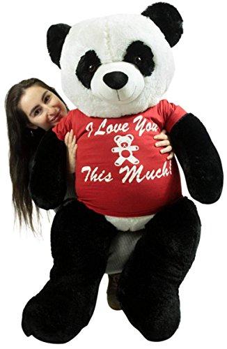 Giant Stuffed Panda Bear 48 Inches Soft 4 Feet Tall Plush I Love You This Much
