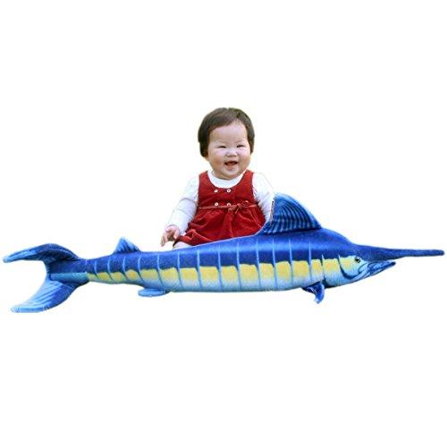 JesonnRealistic Giant Stuffed Marine Animals Toys Soft Plush Blue Marlin394 or 100CM1PC