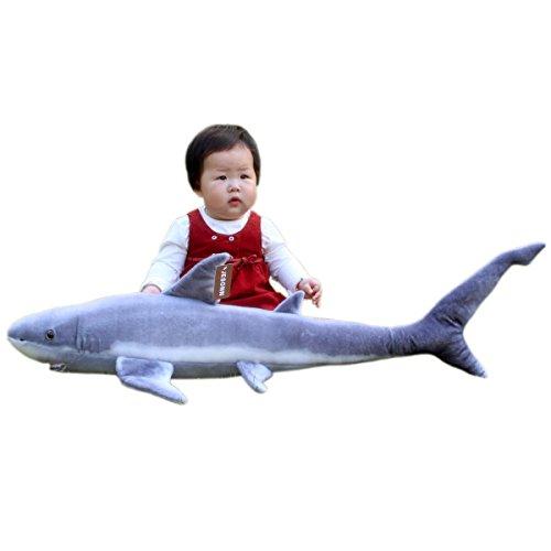 JesonnRealistic Giant Stuffed Marine Animals Toys Soft Plush Great Shark335 or 85CM1PC