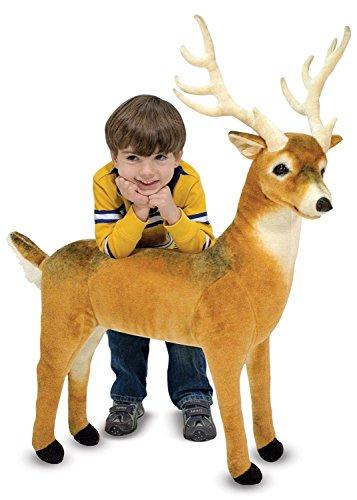 Melissa Doug Giant Deer - Lifelike Stuffed Animal over 3 feet long