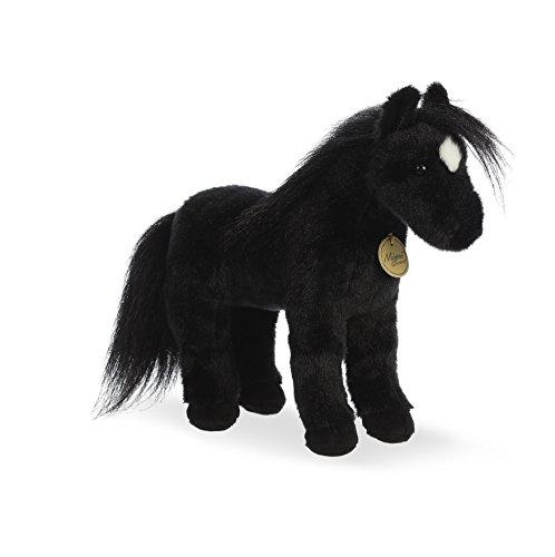 Aurora World Miyoni Plush Black Horse Plush Toy Black