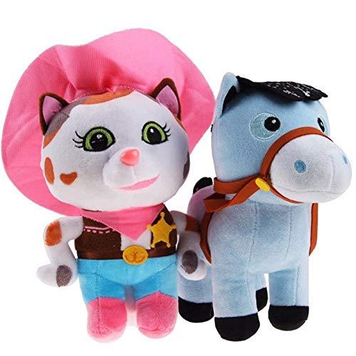 Full Moon 2pcsSet Sheriff Callies Wild West Plush Toy 25cm Cowboy Callie Cat 20cm Pony Horse Plush Toy Stuffed Dolls