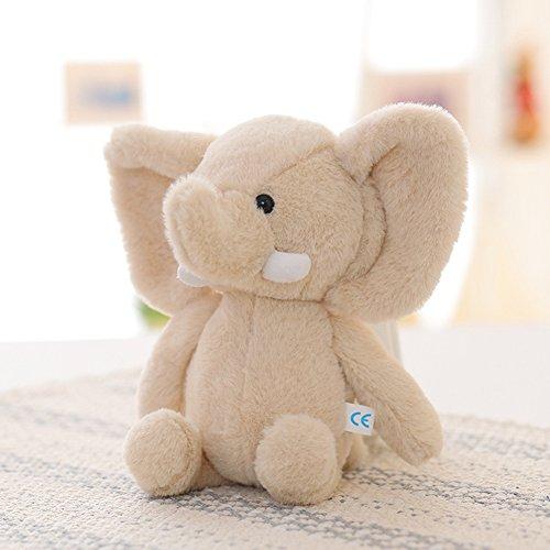 Lanlan 1PCS Soft Cute Cartoon Stuffed Animals Toy Plush Toy for Kids Birthday Christmas Gift Light Brown Elephant 10 Inch