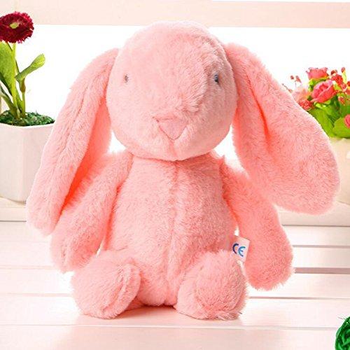 Lanlan 1PCS Soft Cute Cartoon Stuffed Animals Toy Plush Toy for Kids Birthday Christmas Gift Pink Rabbit 10 Inch Plush Interactive Toys Accessories