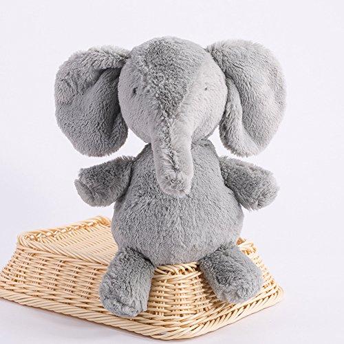Lanlan Soft Stuffed Animal Toy Plush Toy for Kids Birthday Christmas Valentine Gift Grey Elephant 16 Inch Pocket Toys Plush Interactive Toys Accessories