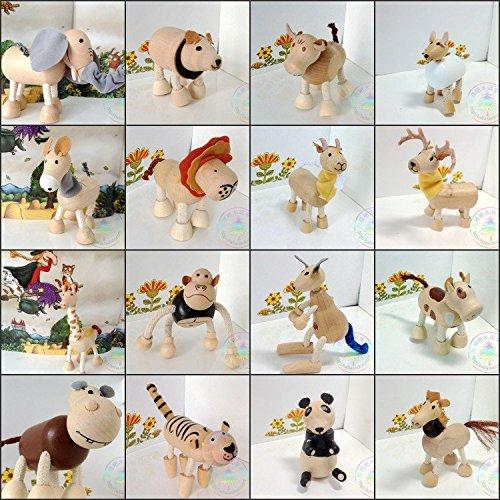 23pcslot wooden animal doll mini handmade ZOO animal toys