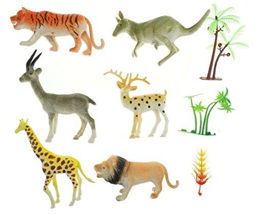 Bilipala Plastic Mini Wild Animal Toys Zoo Animal Toys Preschool Toys 6 Count