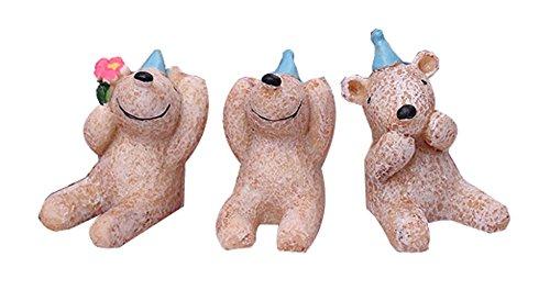 Set of 3 Unique Animal Decoration Zoo Animal Toys16