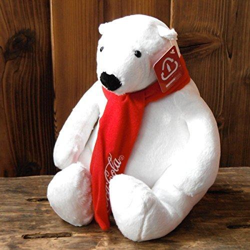 COCA-COLA BRAND Coca-Cola brand Polar Bear Polar Bear Plush Toy Medium ECO  Eco-polar bears toys American goods