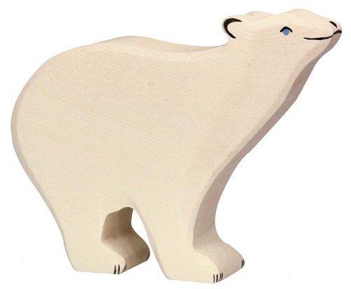 Holztiger Polar Bear Toy Figure by Holztiger